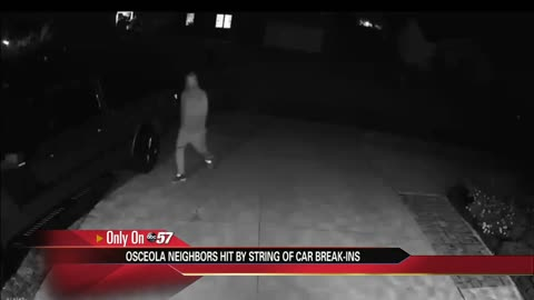 String of car break-ins in Osceola, security cam catches suspect