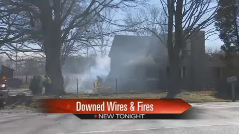 Strong wind gusts cause house fire in Cass County