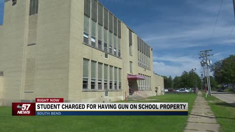 Student charged for having gun on school property