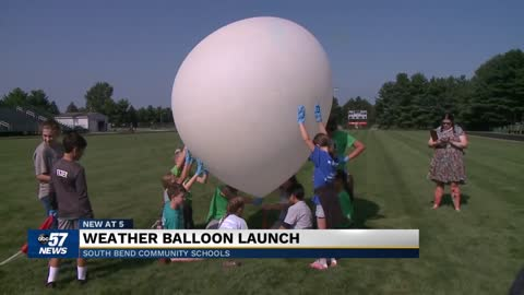 Students launch near-space weather balloon at EdTech in the Bend