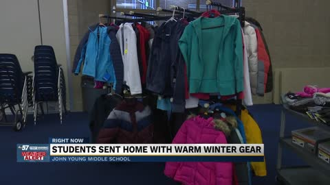 Students sent home with warm winter gear