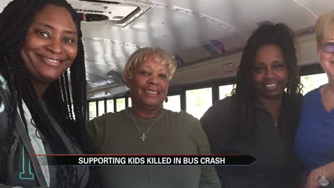 Bus drivers from Florida supporting kids killed in Fulton County bus crash