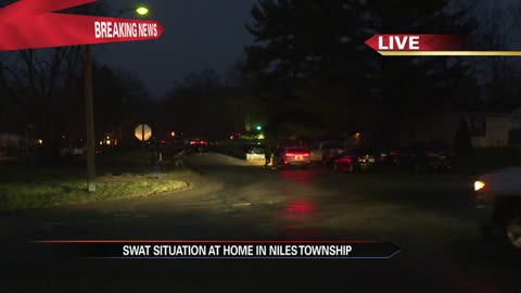 Barricaded suspect caused chaos today in Niles Township and Brandywine...