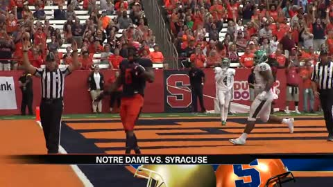 Syracuse's high scoring offense could upset Notre Dame's 10-0 season