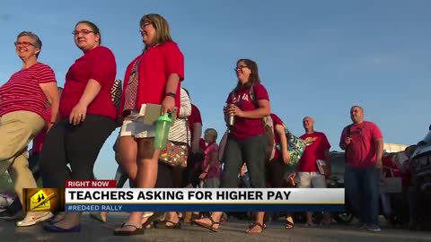Elkhart educators protest for higher pay at Red4Ed rally