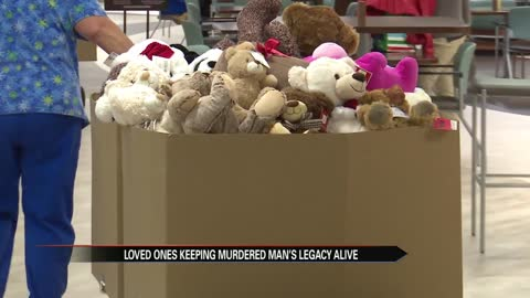 Loved ones donate bears to keep murdered man's legacy alive