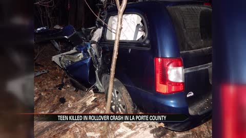 Teenager dead after early morning crash in La Porte County