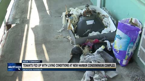 Tenants at New Harbor Condominium complex fed up with living conditions