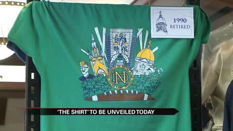 'The Shirt' to be unveiled Friday