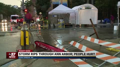 Thousands in Ann Arbor area were without power as storm swept...