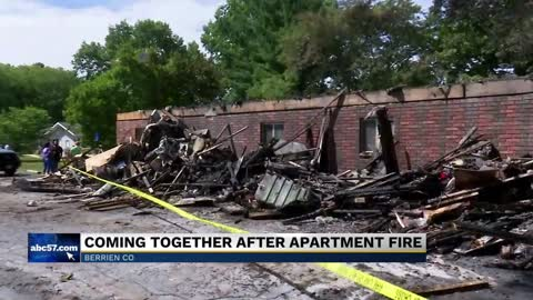 Thousands lost in Berrien Springs Apartment Fire, families pick...