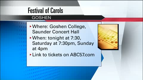 Tickets available for Goshen Festival of Carols