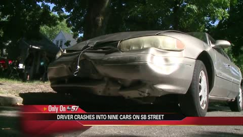 Drunk driver crashes into 9 vehicles in South Bend