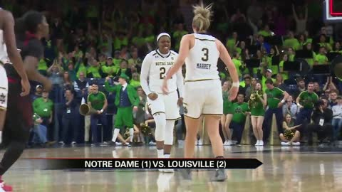 Top-ranked Irish WBB outlasts No. 2 Louisville