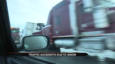 Traffic incidents grow with snow, ISP gives safe driving tips