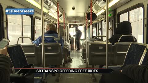 Transpo offering free rides through Thursday