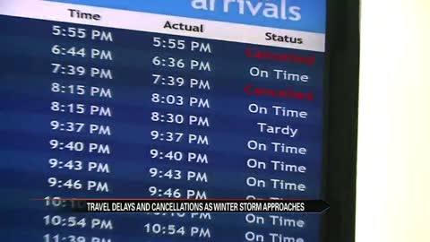 SBN Airport passengers react to winter weather storm
