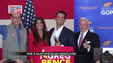 Donald Trump Jr. rallies in Indy for Mike Braun