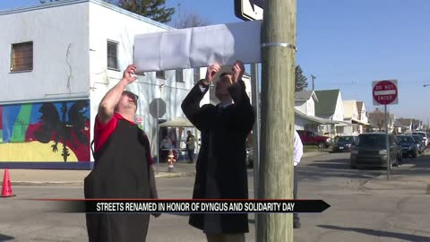 Two streets in South Bend renamed on Dyngus Day