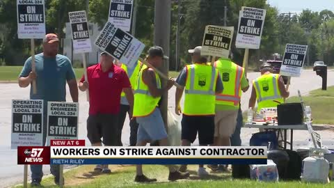 Union workers continue to strike against Rieth Riley