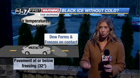 Unique black ice causes chaos on Michiana roads
