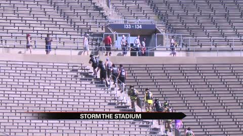 University of Notre Dame hosts Storm the Stadium