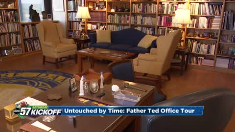 Exclusive tour of Father Hesburgh's office