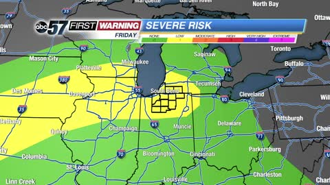 Heavy rain, hail and wind threat Friday and Saturday