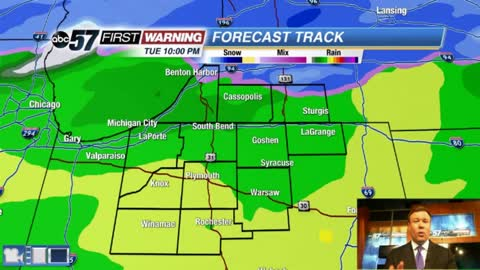 Tuesday's temperature swing brings concern for freezing rain