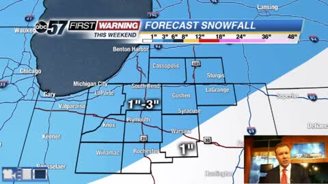 Light snow this weekend