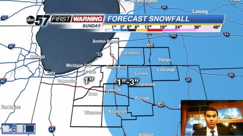 Lake effect ending with sunshine returning today