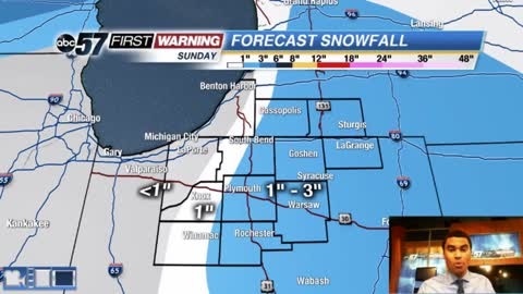 Widespread snow moves in this afternoon