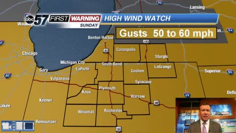Weekend wind storm: Gusts topping 50 mph