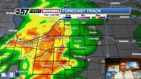 Strong spring storm brings wind, rain and severe threat