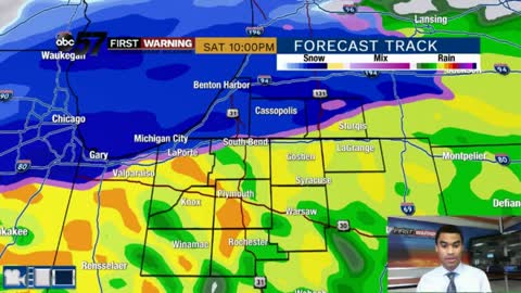 Afternoon rain showers; Wintry mix tonight