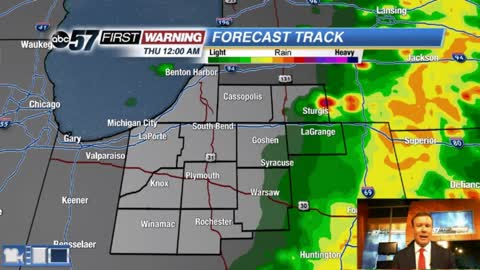 Storms clearing, cooler and calmer Thursday