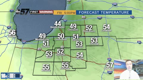 Much cooler Friday, patch frost possible Saturday morning