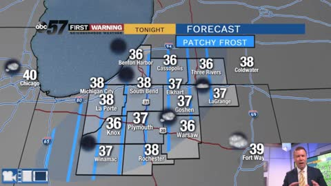 Frost possible early Tuesday, then a warm-up