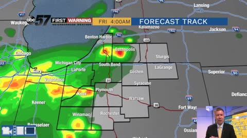 Showers and storms overnight but severe threat has lowered