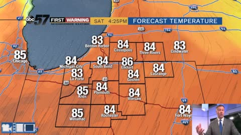 First 80 degree day Saturday, more storms Sunday