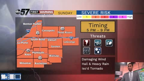 Potential for stronger storms today