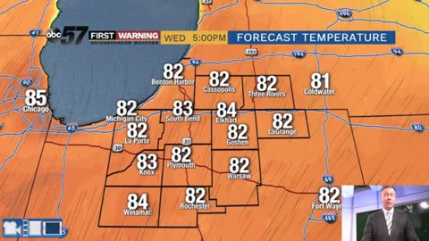 80s return Wednesday, summer-like pattern returns