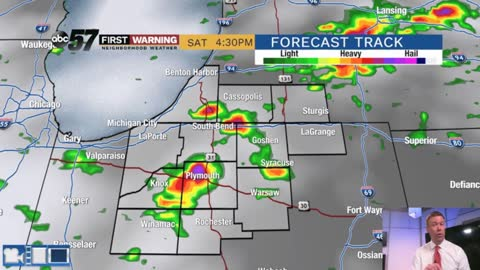 Scattered storms tonight/weekend, severe threat is pending