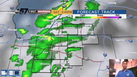 Another Saturday shower and storm chance