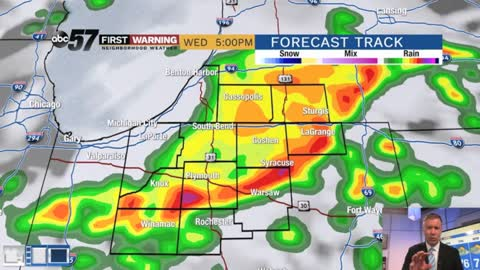 Muggy Wednesday, scattered showers and storms