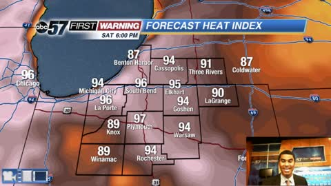 Rain this morning; heat and humidity this weekend