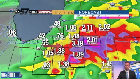 Heavy rain threat returns Wednesday night
