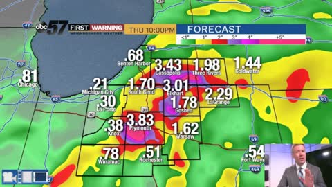 Heavy rain and flood threat overnight