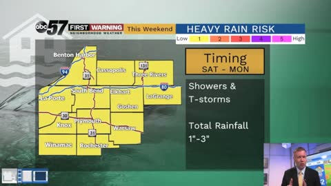 Dry Friday, flood threat returns this weekend