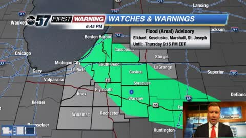 Steady rain and flood threat through Friday